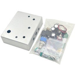 diy pedal kit 2019 - Make Your Own DIY Distortions pedal All Kit With 1590BB pre-drilled Diecast Aluminum Enclosure Box free ship