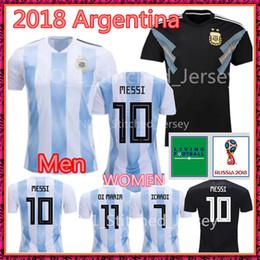 ac8198f720e Argentina MESSI 2018 world cup Soccer Jersey Argentina Men WOMEN DI MARIA  AGUERO BIGLIA MASCHERANO Home soccer Shirt Cheap football Shirt