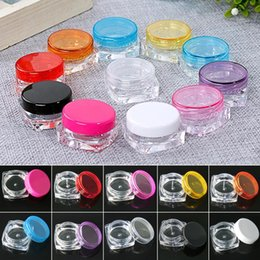 3g box 2018 - YCDC 10Color 100Pcs Sample Cosmetic Container Mini Portable Empty 3g Cream Jar Pot Eyeshadow Makeup Packaging Case Mini