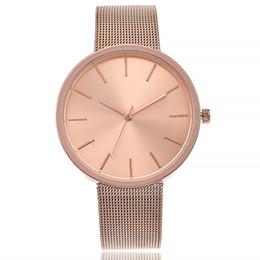 "$enCountryForm.capitalKeyWord Canada - Doreen Box Quartz Wrist Watches Rose Gold Color Net Strap Round Fashion For Women Battery Included 22cm(8 5 8"") long, 1 Piece"