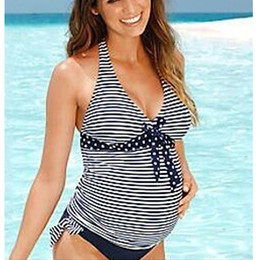 362e9228592 2018 New Summer Beach Wear Women Swimwear Maternity Bikini Plus Size Maxi  Costumes Tankinis Set Fat Pregnant Swimsuit Clothes