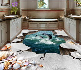 designer kitchen wallpaper UK - photo wall mural Ocean beach shells 3D floor decorative painting wall papers home decor designers