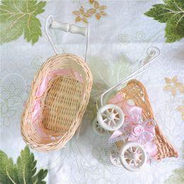 Опт 15 см современный плетеный ротанга корзина цветок вазы ручной велосипед ремесло подарок для детей День Рождения Главная свадебные украшения