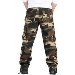 9030b9aa6c0 Tactical Cargo Pants Sweatpants Special Forces SWAT Clothes Mens Army  Combat Pants Camouflage Overalls Loose Trousers Plus Size