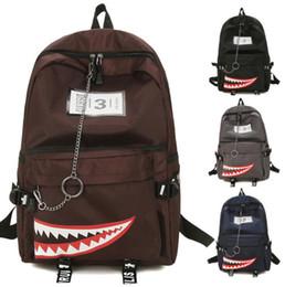 Boys hunting online shopping - Cartoon Backpack Shark Mouth backpack Boys Girls Bags Large Capacity Travel Bags School Bag Casual Teenage Girls School Backpack KKA5699