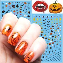 Winter nails online shopping - 2018 fashion Nail Art Sticker Nail Art STYLES Halloween pumpkins winter Christmas snowflake bear nails D adhesive stickers cm cm
