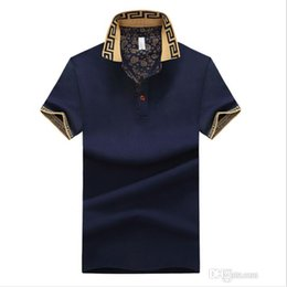 Wholesale Mens Shirts Cotton Casual Blend Short Sleeve Trun Down Collar Summer Tops Free Shippiing Male T shirts Asian Size