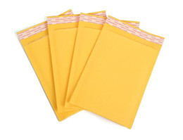 China 50pcs lot 23 sizes Yellow Bubble Mailers Padded Envelopes Packaging Shipping Bags Large Kraft Bubble Mailing Envelope Bags supplier print christmas envelopes suppliers