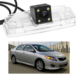 toyota corolla camera NZ - New 4 LED Car Rear View Camera Reverse Backup CCD fit for Toyota Corolla 2007-2013 08 09 10 11 12