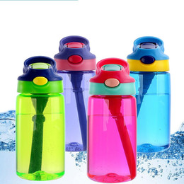 Steel centre online shopping - Sports Water Bottle With Straw Children Kids Portable Large Capacity Food Grade Man Woman Plastic Space Cup Pure Color dy bb