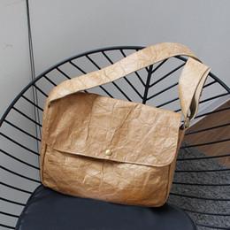 $enCountryForm.capitalKeyWord Canada - Wrinkle Bags Designer Briefcase Women Crossbody Bag Kraft Paper Vintage Messenger Bags Postman Shoulder Crossbody Bag Handbags