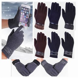 Discount men touch screen gloves - Cold Weather Windproof Thermal Glove Touch Screen Gloves Casual Gloves Mittens Hand Warmers for Mens Cycling and Running