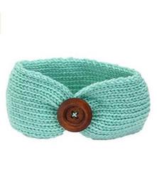$enCountryForm.capitalKeyWord Australia - Baby Girls Party Fashion Wool Crochet Headband Knit Hairband with Button Decor Winter Newborn Infant Ear Warmer Head Headwrap