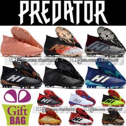 $enCountryForm.capitalKeyWord NZ - Cheap High Top Mens Predator 18.1 FG Soccer Shoes Outdoor Football Boots Socks Soccer Cleats Predator 18 Telstar Football Shoes size 6.5-11