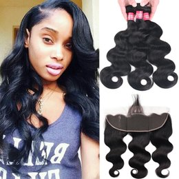 Chinese  8A Mink Brazilian Virgin Hair Body Wave Straight Loose Wave Deep Wave Kinky Curly 3 Bundles With 13x4 Ear to Ear Lace Frontal Closure Hair manufacturers