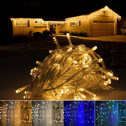 discount christmas lights icicle 5m wholesale curtain icicle led string lights ac 220v 4m