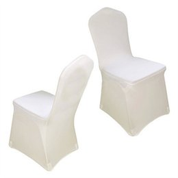 White Banquet Chairs UK - White Universal Spandex Chair Covers China For Weddings Decoration Party Chair Covers Banquet Dining Chair Covers 1 Piece V20