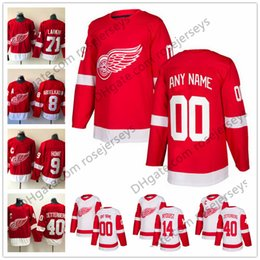 d7e5a19e1 Red wing online shopping - Custom Detroit Red Wings Hockey Jerseys Stitched  Any Number Name Customized