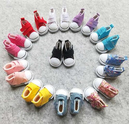 $enCountryForm.capitalKeyWord Canada - 10 Pairs Hot Sale Doll Accessories 5CM BJD Doll Shoes 1 6 Canvas Shoes For Doll