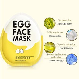 Wholesale 2018 box Skin Care face Moisturizing Egg Face Mask Collagen Skin Dilute Acne Facial Cosmetics