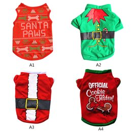 Wholesale santa costume female online – ideas Pet Dog Clothes Santa Christmas Costume Cute Cartoon Clothes For Small Dog Cloth Costume Dress Xmas apparel for Kitty Dogs P2 XS S M L