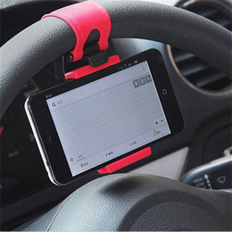Wholesale Universal Car Steering Wheel Cradle Holder Smart Clip Car Bike Mount For Mobile Iphone Samsung Cell Phone