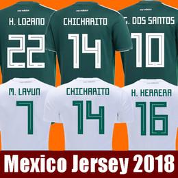 1c4952db810df Tailandia Camisetas México HOMBRES MUJERES jersey de fútbol 2018 CHICHARITO  LOZANO MARQUEZ DOS SANTOS GUARDADO niñas camiseta de fútbol camisa de futbol