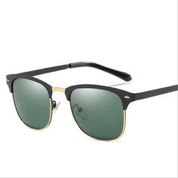 Discount night vision flash - Free shipping New Fashion Polarized Sunglasses Beach flash Eyewear Night vision sun glasses for man Women A502