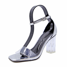 $enCountryForm.capitalKeyWord UK - Thick with sandals female 2018 new European and American fashion sexy transparent crystal high-heeled shoes Roman fairy shoes retro summer