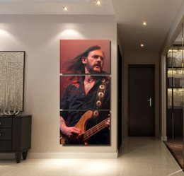 Art Canvas Prints Australia - Canvas Paintings Living Room Wall Art HD Printed 3 Pieces Motorhead Lemmy Poster Home Decorative Modular Pictures Framework Y18102209