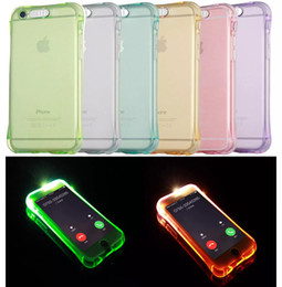 $enCountryForm.capitalKeyWord NZ - Call Lightning Flash LED Light Up Phone Case transparent Soft Shockproof Cover For iphone se 6 6s plus 7 8 plus 8 s8