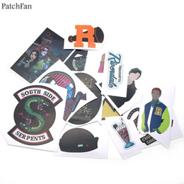 luggage for laptops 2019 - Patchfan 15pcs Riverdale Pvc Waterproof Stickers For scrapbooking Luggage Skateboard Phone Laptop Moto Bicycle Wall Guit