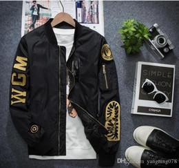 Venta al por mayor de Vlone A1 piloto chaqueta sección delgada de la venta al por mayor de la licencia de bordado rompevientos masculino de la fuerza aérea soporte collar abrigo