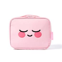 Chinese  2018 Kawaii Cosmetics Bag Women Small Mini Cosmetics Storage Box High Capacity Makeup Bag Corduroy Wash Waterproof Package manufacturers
