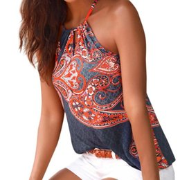 539941972e7b5 Bohemian Tank Tops Canada - Womens Tribal Printed Vest 2018 New Arrival  Summer Halter Sleeveless Blouse