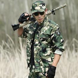 Discount camouflage combat suit - Outdoor Hunting Clothing Camouflage Mens Tactical Hunting Clothes For Women Men Ghillie Suit Combat Shirt+Tatico Pants