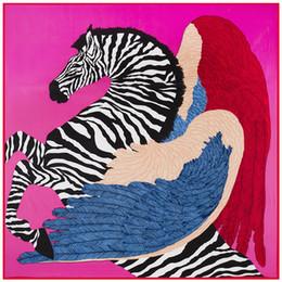 $enCountryForm.capitalKeyWord Canada - Luxury H Twill Square Women Horse Print Scarf Brand Zebra Shawls and Wraps Foulard Femme Ladies Joker Large Silk Scarfs Wholesale