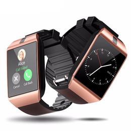 Venta al por mayor de Bluetooth DZ09 Smart Watch Relogio Android Smartwatch Llamada de teléfono con tarjeta SIM TF para IOS iPhone Samsung HUAWEI VS Y1 Q18