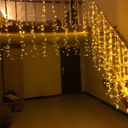 10m 480led christmas lights outdoor decoration droop 15m led curtain icicle string lights new year wedding party garland light
