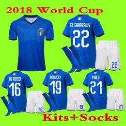 b0447e60a 2018 World Cup Italy Home jerseys adult Kits and socks De Rossi Bonucci  Verratti Chiellini INSIGNE Belotti Jerseys Football Uniform
