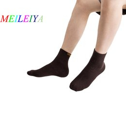 Discount animals tubes MEILEIYA 20 Pairs Bag Autumn And Winter Men's Socks Solid Color Terry Thick Warm Middle Tube Socks Pull Wool Casual
