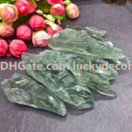crystals souvenir Canada - 100g 40mm-70mm Natural Raw Green Quartz Prosperity Crystal Points Healing Energy Rough Gemstones Unpolished Green Mineral Rocks Stones Stick