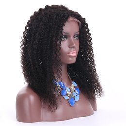 China kinky curly human hair lace front wig for black women indian hair kinky curly glueless full lace wig with pre pluck hair line suppliers
