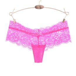 3d8056e9e Full Lace Women Sexy Panties Low Waist Hollow Transparent Panties Underwear  Ladies G String Thongs Fashion Cute Thong