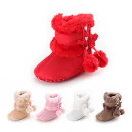 $enCountryForm.capitalKeyWord UK - Cute Baby Girl Shoes Winter Warm Toddler Soft Sole Cotton Snow Boots Shoes Baby Girls 0-18M