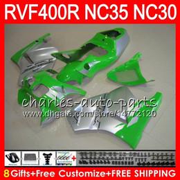 $enCountryForm.capitalKeyWord NZ - RVF400R For HONDA VFR400 R NC30 V4 VFR400R 89 90 91 92 93 82HM.13 RVF VFR 400 R NC35 VFR 400R 1989 1990 1991 1992 1993 Fairings Green silver
