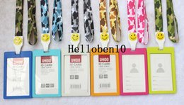 neck badge holders Australia - Wholesale sales A lot Vertical Style Business ID Badge Card Holder & Lanyard Neck Strap