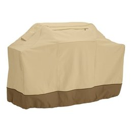 Chinese  Beige Multi Size Heavy Duty Waterproof BBQ Covers Gas Barbecue Oxford Grill For ECO Friendly Patio Protector Hot Sale 52rs4 Z manufacturers