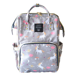 China 4 Colors Unicorn Mommy Backpacks Nappies Bags Unicorn Diaper Bags Backpack Maternity Large Capacity Outdoor Travel Bags CCA9269 5pcs cheap function bags suppliers