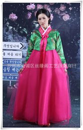 korean evening dresses Australia - 2015 New Korean Hanbok Formal Dresses Asia Traditional Clothes Women's Dresses Clothing Evening Singer Costume Cosplay